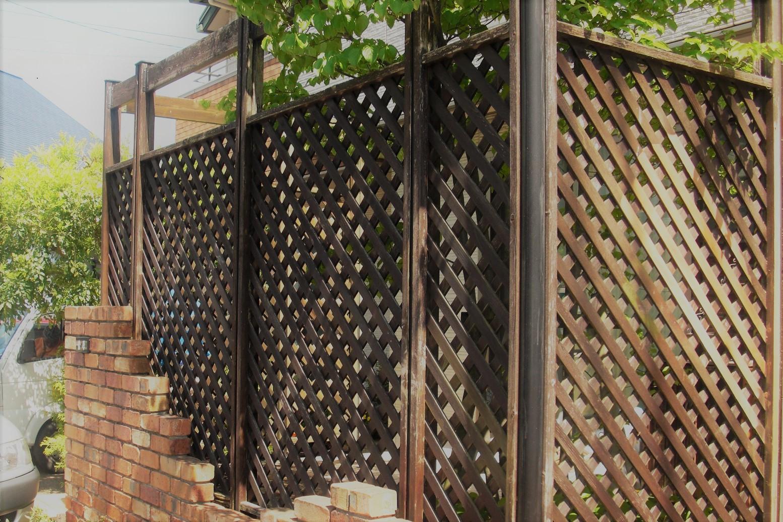 ラティス フェンス塗装の仕方